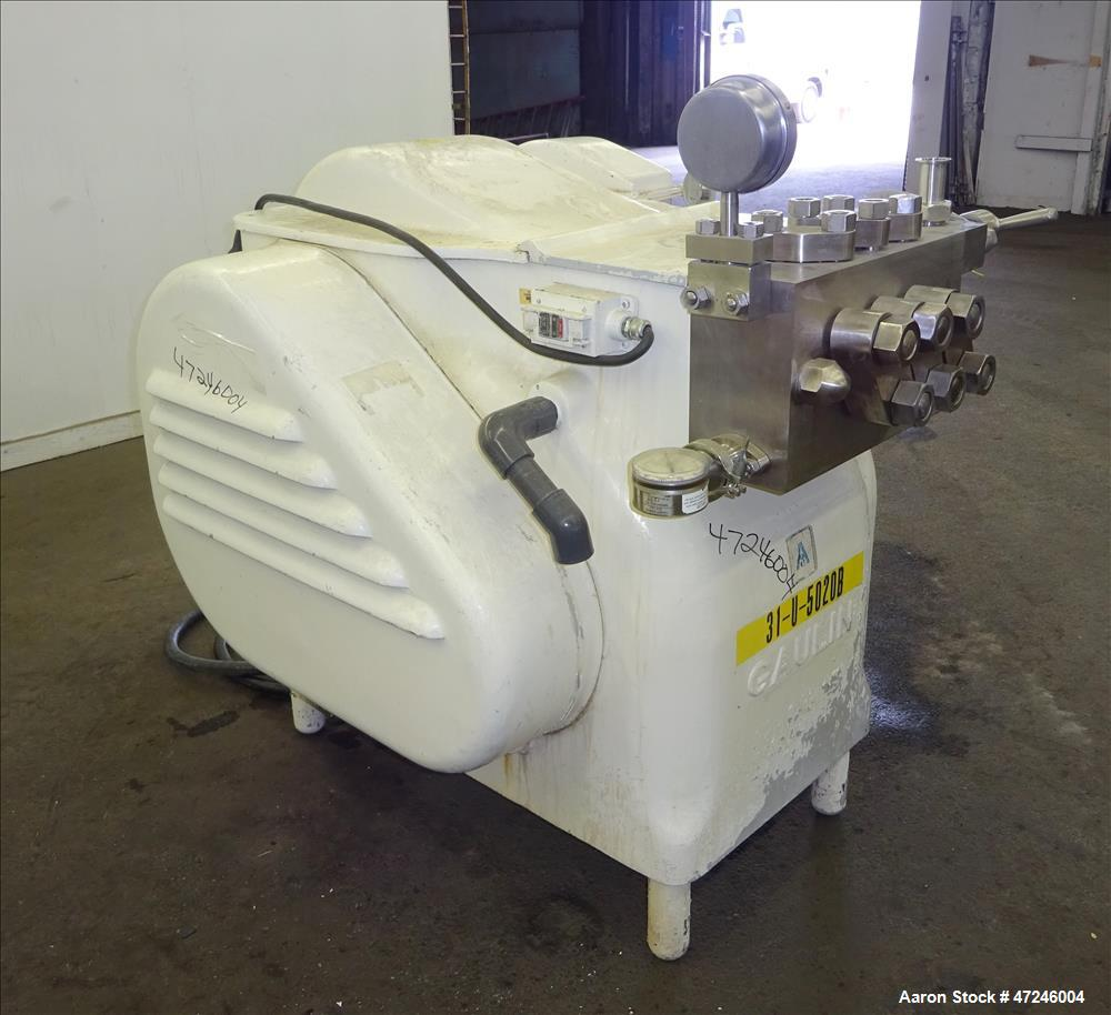 Used- Gaulin Homogenizer, Model 284 M6 8 TBS, 304 Stainless Steel.