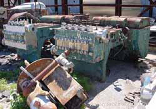USED: Manton Gaulin pump, high pressure, 1200 psi, full stroke,fluid seal, packing adjusting screws, 304 stainless steel wet...