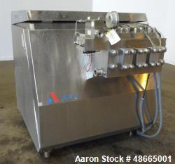 Used- APV Homogenizer, Model G55-5B, 316 Stainless Steel.