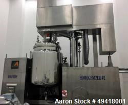 Used-Mizuho Homogenizer, Model VT-1-1000. Unit has a 1000L tank, Agitation System:Upper Triple Mixer, Paddle Mixer Scraping ...