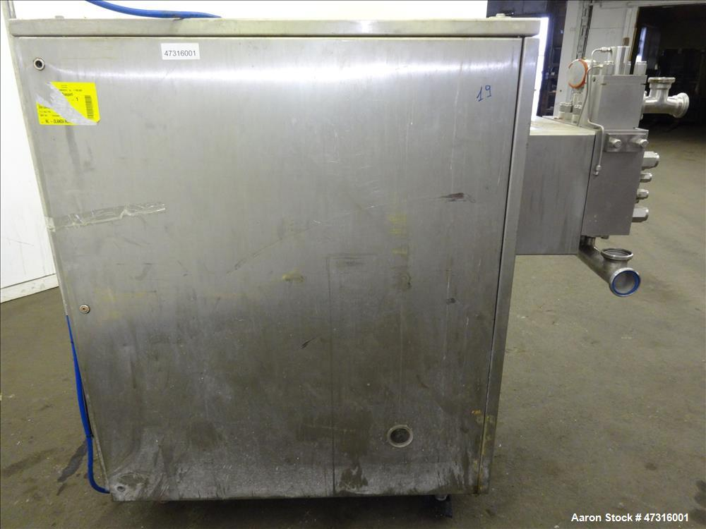 Used- Soavi B. & Figli SPA Homogenizer, Model CA/60R, 2205 Stainless Steel. Rated 5000 liters per hour (1320 gallons) at 175...