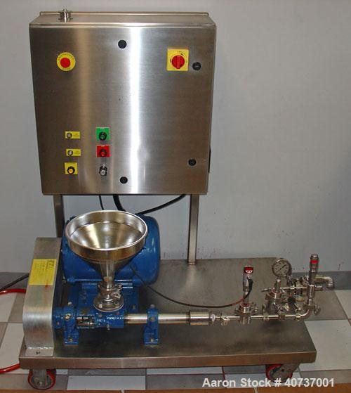 Used- Sonic Corp High Pressure Sonolator Homogenizer Mixing System, Model A-CIP Sonolator TM. 316 stainless steel components...