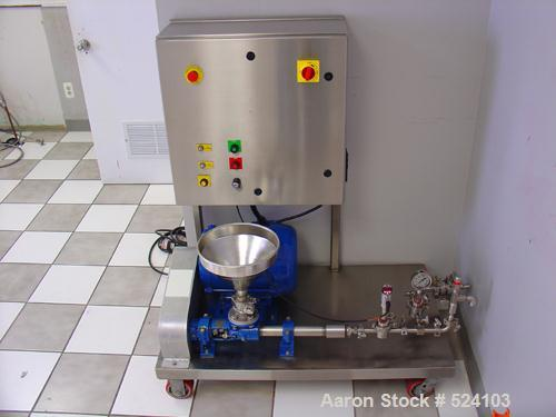 USED: Sonolator homogenizer manufactured by Sonic Corporation in September 2005. 316 stainless steel components. Processes u...