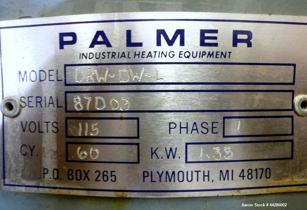 "Used- Palmer Electric Hot Pot Melter, Model DRW-DW-L, Carbon Steel. 12"" Diameter x 10"" deep. With temperature controller. 1/..."