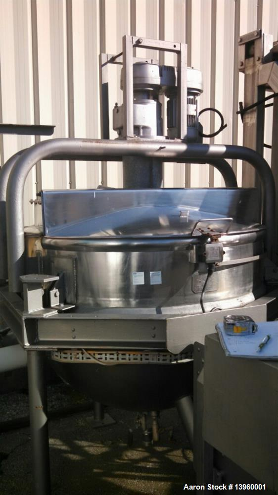Used- Hobel 300 Gallon Stainless Steel Contact Parts Kettle.