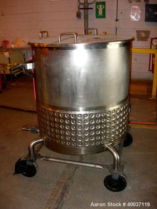 "Used-Used: Walker Kettle, 145 gallon, 304L stainless steel, vertical. 34"" diameter x 36"" straight side, open top with a 1/3 ..."