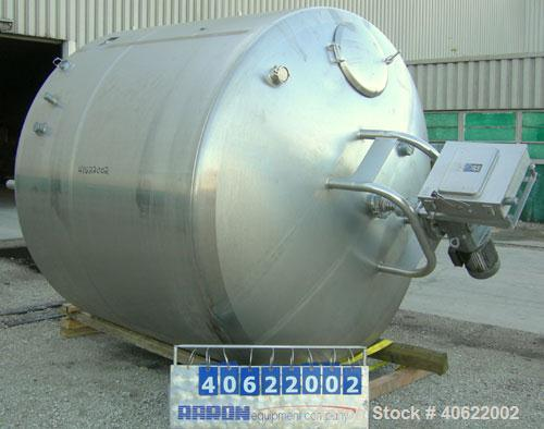 "Used-  DCI Kettle, 2,000 Gallon, 304 stainless steel, jacketed.  95 3/4"" diameter x approx. 66 1/2"" straight side.  Dish top..."