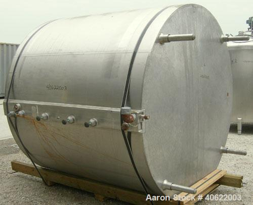 """Used-  Cherry Burrell Kettle, approximate 1500 gallon, 304 stainless steel, jacketed.  84"""" diameter x approx 72 7/8"""" straigh..."""