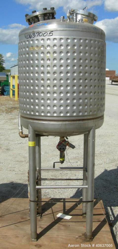 "Used-  APV Crepaco Kettle, 100 Gallon, 316 stainless steel, vertical.  30"" diameter x 30"" straight side, dished top and bott..."