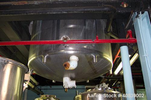 Used-Walker 1500 gallon, stainless steel,   jacketed vacuum tank.  Model SP6375, serial #957, National Board #90, ASME #588....