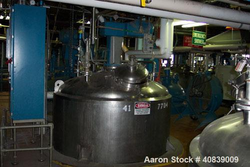 Used-Walker 1500 gallon, 316 stainless steel, jacketed vac mix tank, model SP6375, serial #956, ASME 567, year 1977. Vessel ...