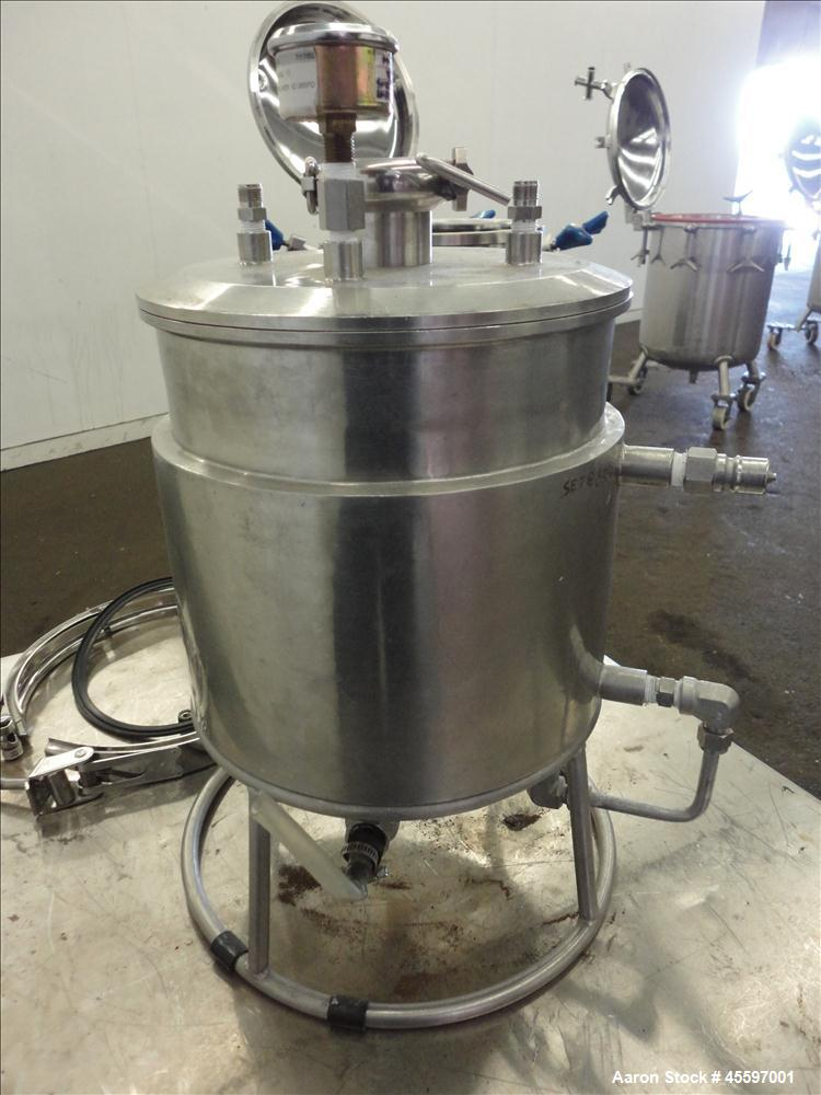 Used- 2 Gallon Stainless Steel Jacketed Tank