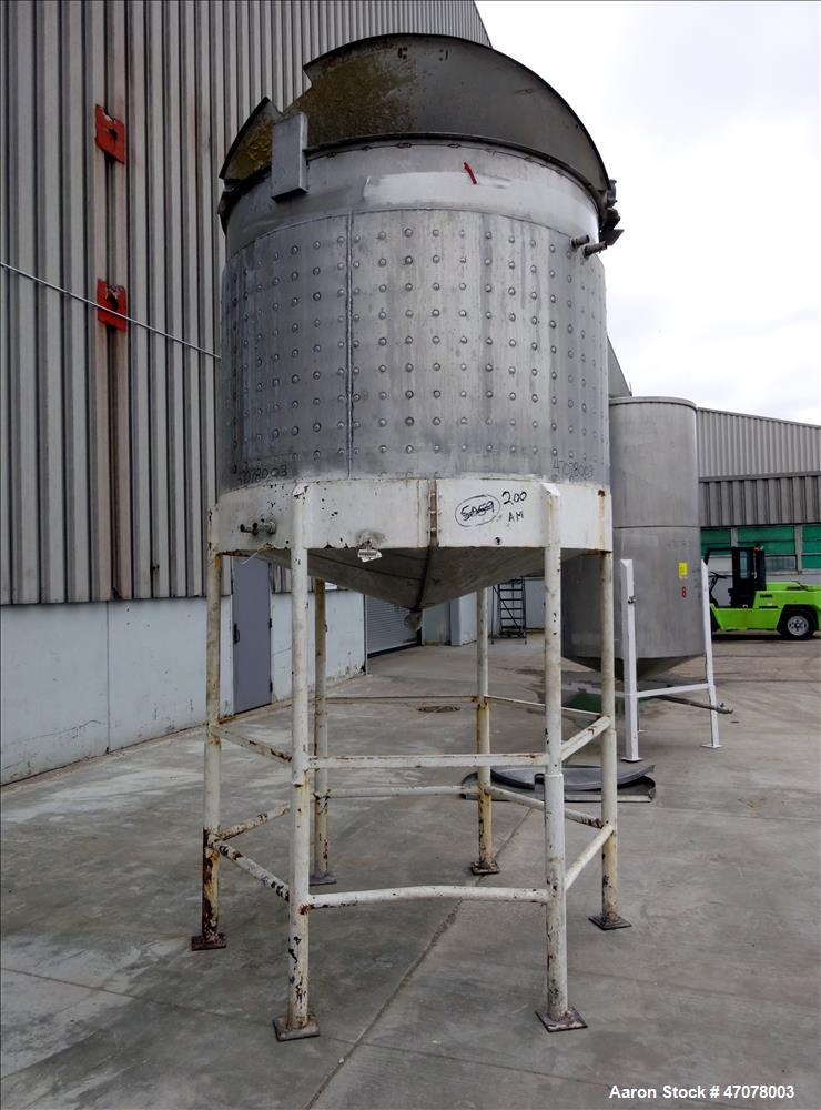 Used- Kettle, Approximate 1000 Gallon, 304 Stainless Steel, Vertical.