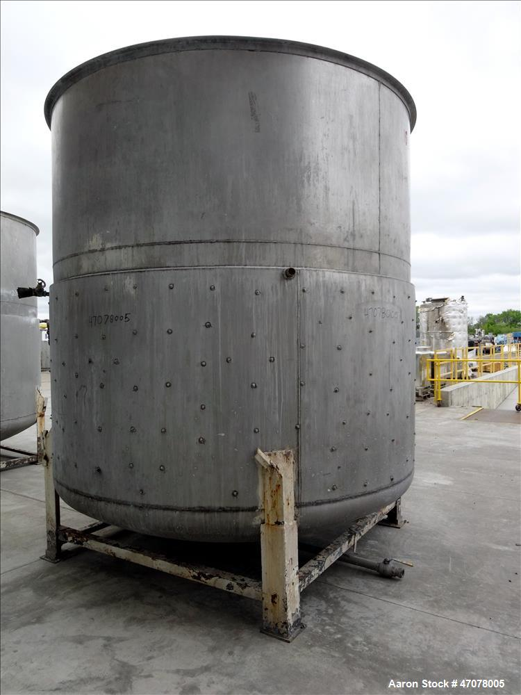 Used- Kettle, Approximate 4500 Gallon, 304 Stainless Steel, Vertical.