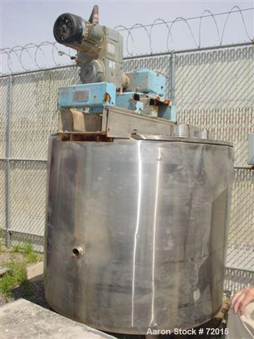 "Used- Kettle, approximate 730 gallon, stainless steel. Fully jacketed with insulation. Approximate inside dimensions: 60"" di..."