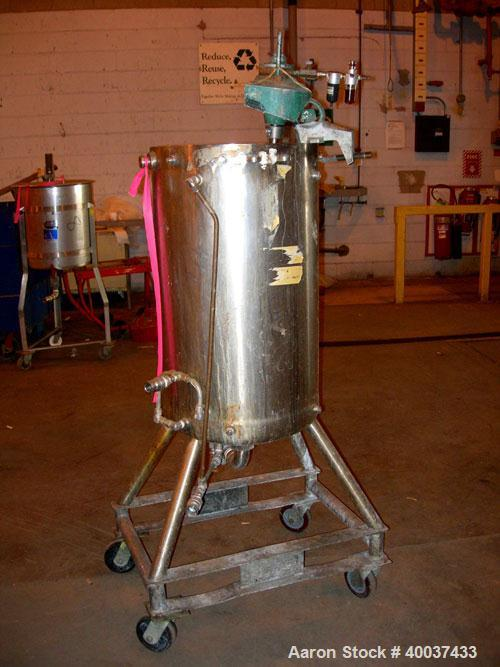 "Used- Acme Industrial Kettle, 40 gallon, stainless steel, vertical. 19"" diameter x 32 1/2"" straight side, open top, no cover..."