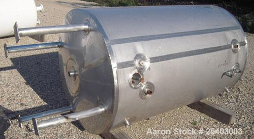 "Used-ADM Stainless Kettle, 264 Gallon, Model CV, Stainless Steel, Vertical. 36"" diameter x 72"" straight side. Dished top and..."