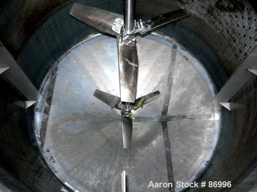 "Used- ADM Stainless Inc Kettle, 1750 Gallon, Stainless Steel, Vertical. 72"" diameter x 96"" straight side. Flat top with a bo..."