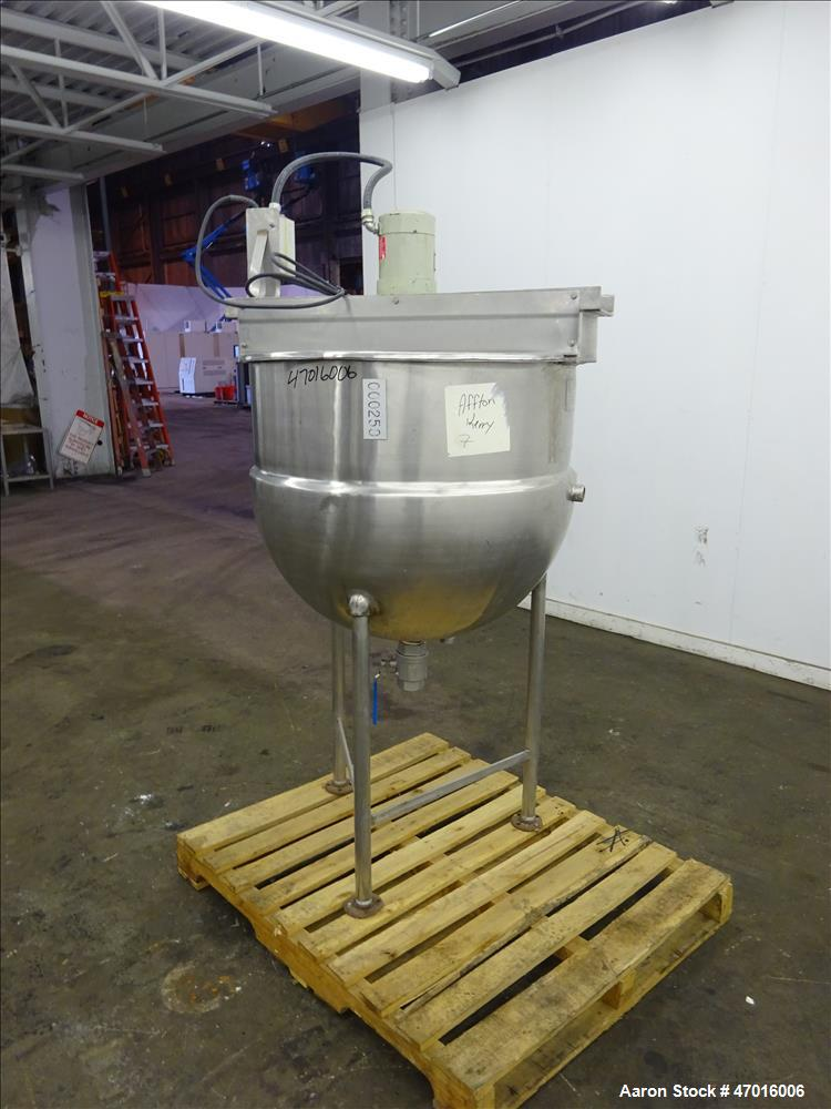 Used- Alloy and Steel Fabricators Kettle, 125 Gallon, 304 Stainless Steel, Verti