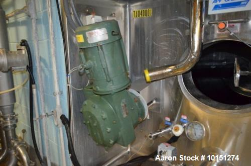Used- APV Crepaco 10,000 Gallon (Approximately) Vertical Jacketed Stainless Steel Ammonia Tank. Jacket rated at 142 psi at 1...