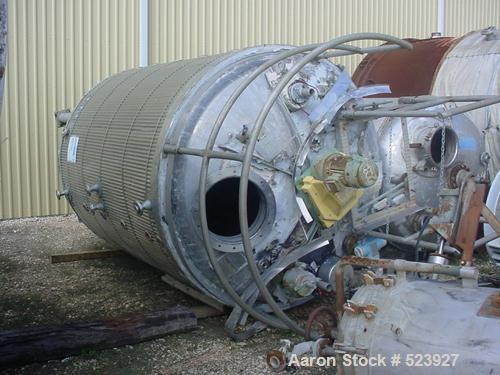 USED: 3000 Gallon, 304L stainless steel, tank manufactured by Camden(Whiting Metal), built in 1997. Tank is 7' diameter with...