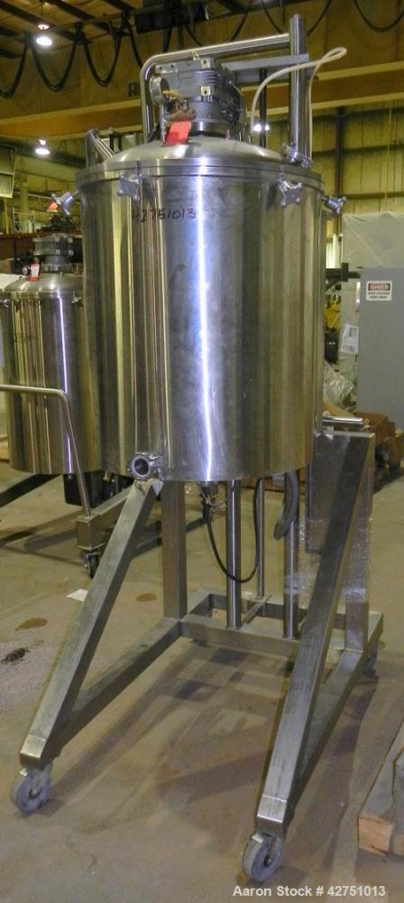 Used- Cavalla Electically Heated Dispensing & Dosing Kettle, Model 150-L, 150 Liter (39.6 Gallon), 316 Stainless Steel, Vert...
