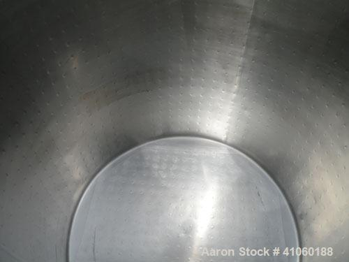 """Used- Chem-Tek Kettle, 528 Gallon, 316 Stainless Steel, Vertical. 52"""" diameter x 58"""" straight side, open top with a 2 piece ..."""