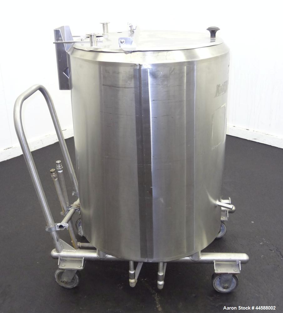 "Used- Cherry Burrell Kettle, 50 Gallon, Model 50PVE, 316 Stainless Steel, Vertical. Approximately 24"" diameter X 28"" straigh..."