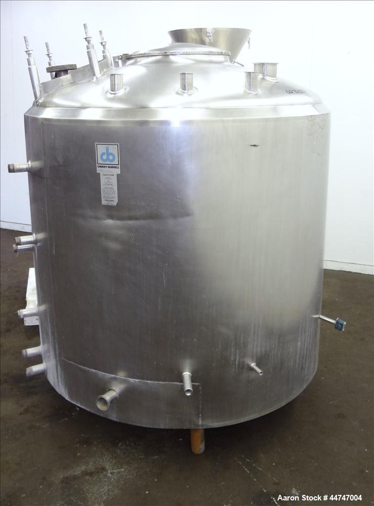 "Used- Cherry Burrell Processor Kettle, 500 Gallon, Stainless Steel, Vertical. Approximately 57"" diameter x 46"" straight side..."