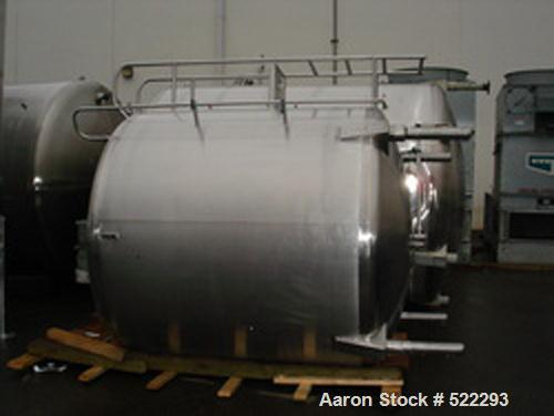 USED: 2000 gallon Cherry Burrell vertical single wall tank, modelCV-2000. 2 hp top agitator 3/60/240/480V, 1800 rpm and 68 r...
