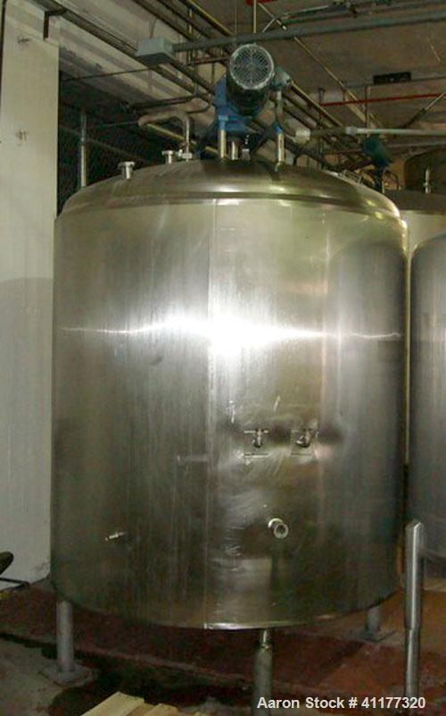 "Used- Cherry Burrell Kettle/Processor, 1000 gallon, model EDPA, stainless steel, vertical. Approximately 72"" diameter x 72"" ..."