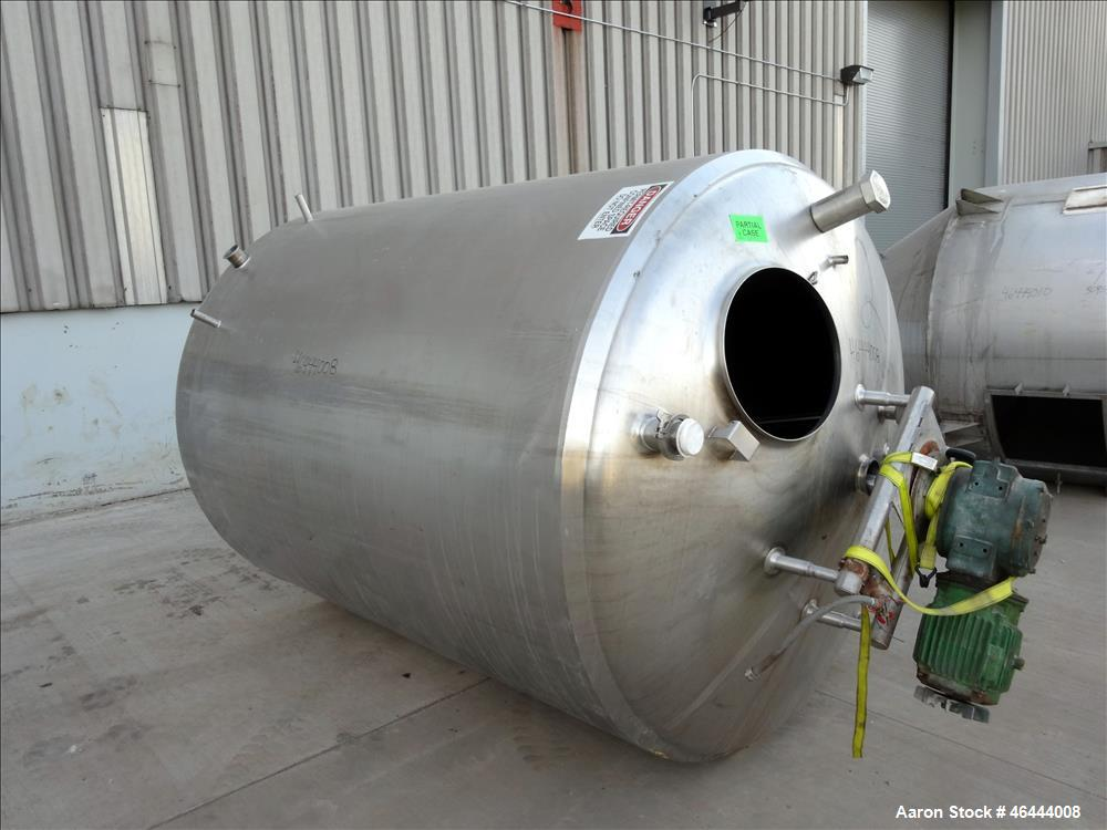 "Used- Processor Kettle, 1500 Gallon, 304 Stainless Steel, Vertical. Approximately 74"" diameter x 82"" straight side dished to..."