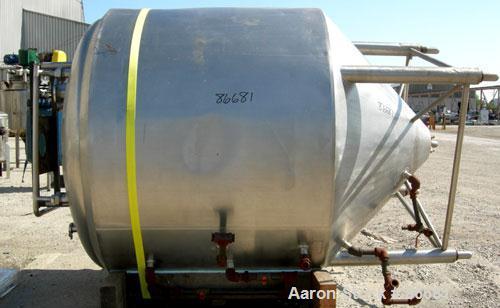 "USED- Cherry Burrell 1,000 Gallon Processor Kettle, Model EPDCA, 304 Stainless Steel, Vertical. 60"" diameter x 56"" straight ..."