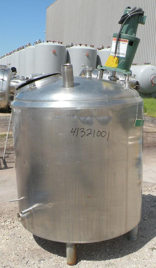 "Used- Cherry Burrell Kettle, 250 Gallon, Model MFPDA, 304 Stainless Steel, Vertical.  48"" diameter x 40"" straight side, dish..."