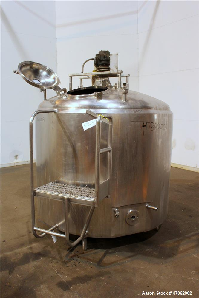 Used- Cherry Burrell Processor Kettle, Approximate 600 Gallon, 304 Stainless Ste