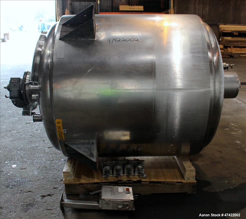 Used- Cherry Burrell Kettle (Syrup Tank), Approximate 500 gallons, 304 Stainless