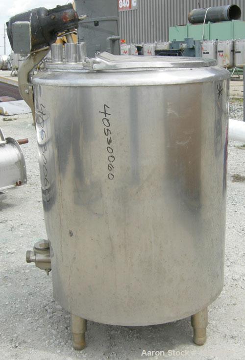 "Used- Cherry Burrell Kettle, 50 gallon, model UAS50M, 304 stainless steel, vertical. Approximately 24"" diameter x 28"" straig..."