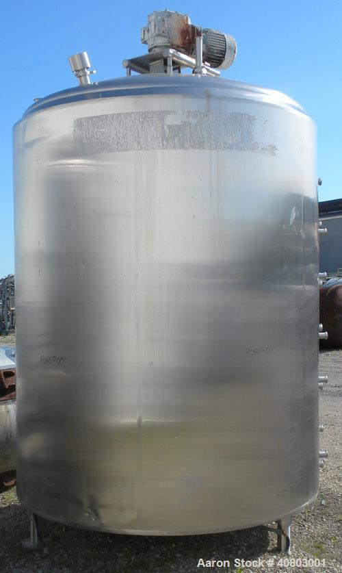 """Used- Cherry Burrell Processor Kettle, 2300 Gallon, 316 Stainless Steel, Vertical. Approximately 84"""" diameter x 96"""" straight..."""