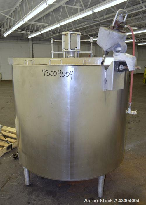 """Used- Cherry-Burrell Dual Agitated Kettle, 250 Gallon, 316 Stainless Steel, Vertical. Approximate 52"""" diameter x 39"""" deep. O..."""