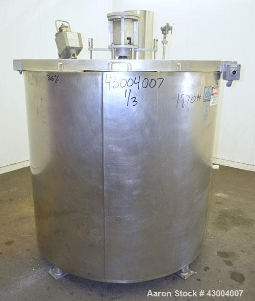 """Used- Cherry-Burrell Dual Agitated Kettle, 350 Gallon, 316 Stainless Steel, Vertical. Approximate 54"""" diameter x 48"""" deep. O..."""