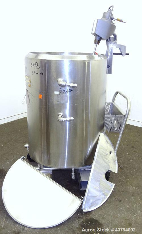"Used- Cherry-Burrell Kettle, 100Gallon, 316L Stainless Steel, Vertical. Approximate 30"" diameter x 36"" straight side. Open t..."