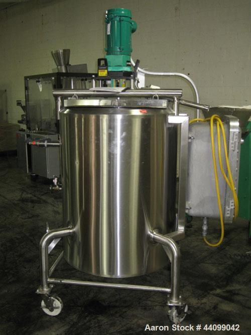 "Used- Cherry-Burrell Kettle, 100 Gallon. Stainless steel construction, jacket rated 100 psi @ 350 degrees F, 30"" diameter x ..."