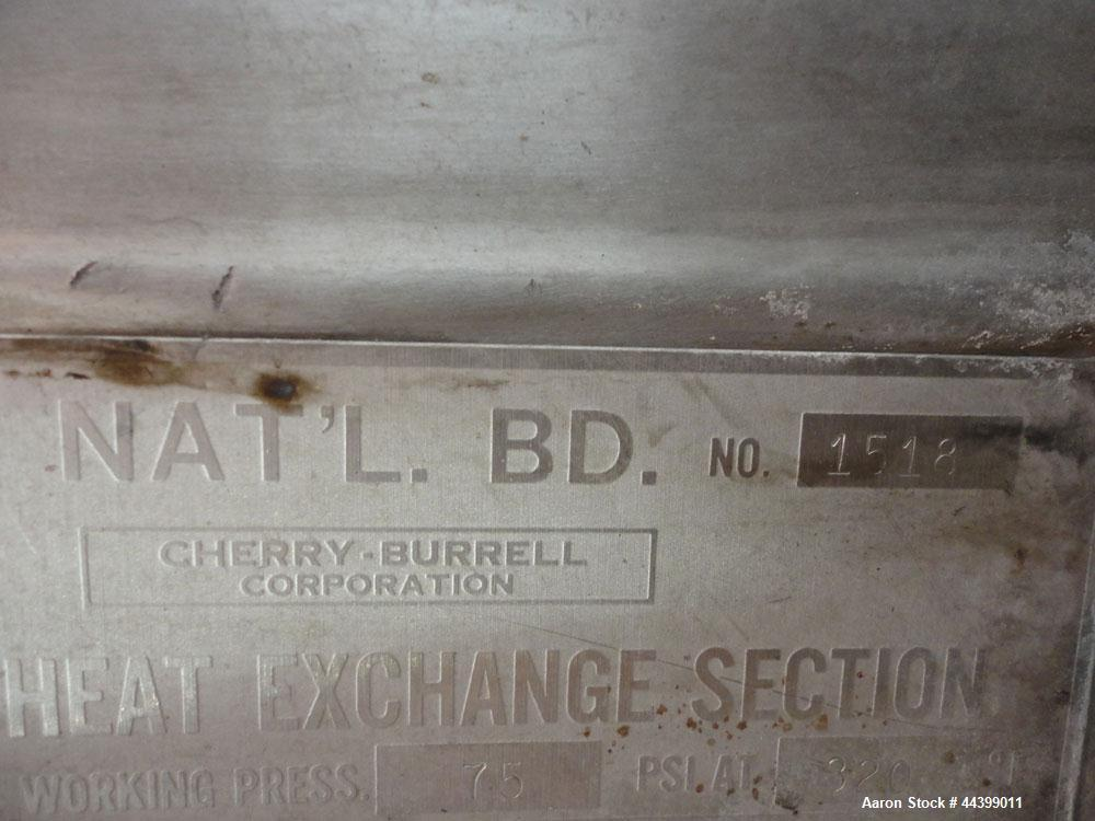 """Used- Cherry-Burrell Processor Kettle, 800 Gallon, 316 Stainless Steel, Vertical. Approximately 72"""" diameter x 57"""" straight ..."""