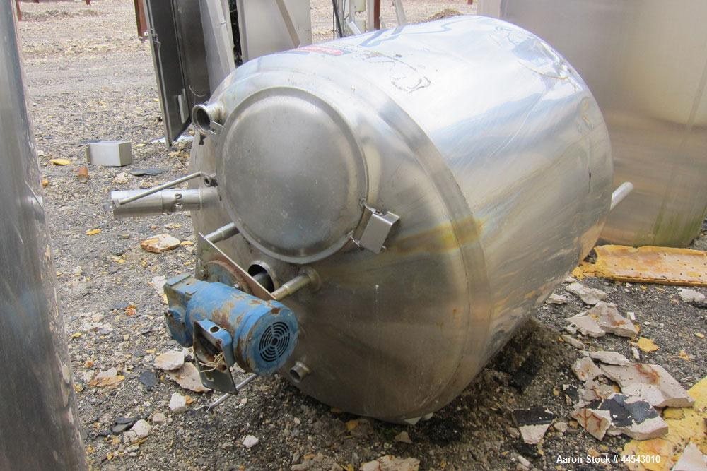 Used-Cherry Burrell Kettle, 200 gallon, Model EPDA, Stainless steel, Vertical,  Dish top, Flat bottom, Top mount agitation, ...