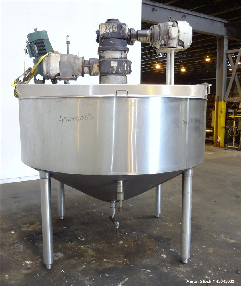 "Used- Chester Jensen Dual Motion Cooker-Cooler, 500 Gallon, Model M70N50C.C., 304 Stainless Steel. Approximate 84"" diameter ..."