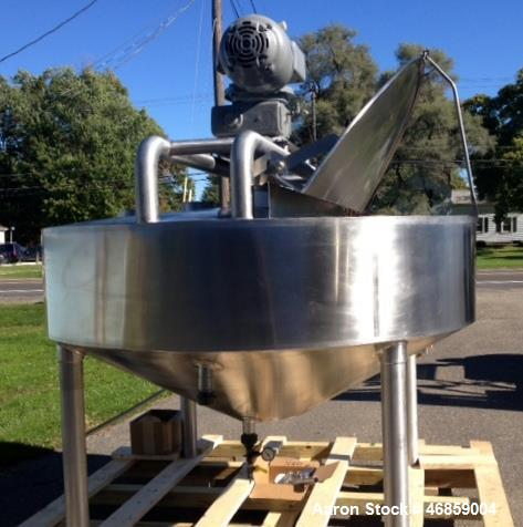 "Used- Chester Jensen Dual Motion Cooker-Cooler, 300 Gallon, Model X70N-30, 316 Stainless Steel. Approximate 84"" diameter x 1..."