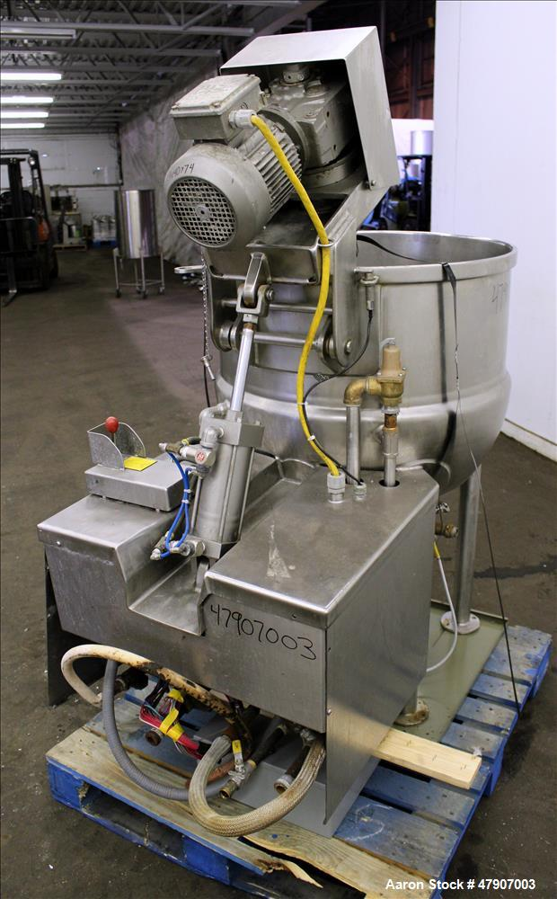 """Used- Cleveland Inclined Agitator Kettle, 60 Gallon, Model IA-MKDL-60, 316 Stainless Steel. Approximate 30"""" diameter x 28"""" d..."""