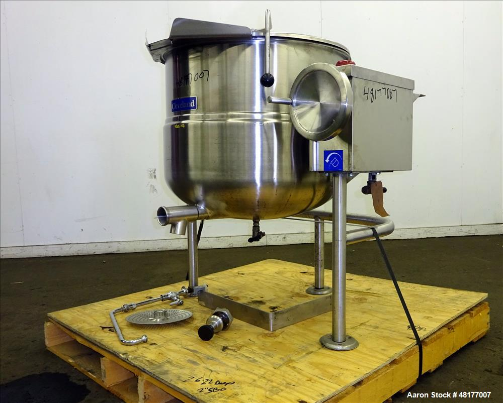 Used- Cleveland Direct Steam Kettle, Model KDL-40T, 40 Gallon, 316 Stainless Ste