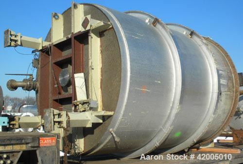"""Used- Consolidated Fabricators Kettle, 4800 gallon, 304 stainless steel, vertical. 104"""" diameter x 132"""" straight side, flat ..."""