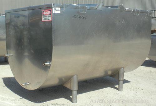 Used- 1000 Gallon Creamery Package Milkeeper Bulk Farm Jacketed Milk Tank, Model R